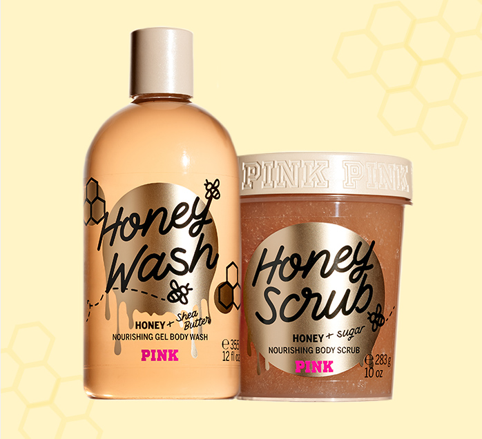 Members exclusive! $6 Honey Body wash or scrub. Orig. $14.50-$18.50. PINK Beauty Only